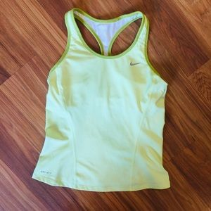 Nike Racerback Dri-Fit neon lime court tank Small